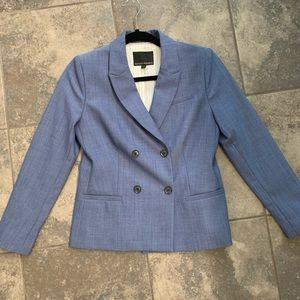 NWOT Banana Republic Chambray Blue Suit Jacket